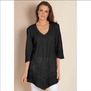 Soft Surroundings Grenada Gauze Tunic Shirt